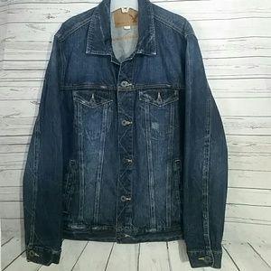 AMERICAN EAGLE Distressed Jacket Blue Men's XL